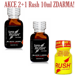 Poppers Rush Super Black Label 24ml 2+1 Zdarma